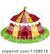 Clipart Red And Yellow Circus Big Top Tent Royalty Free Vector Illustration