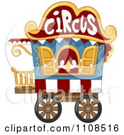 Clipart Circus Caravan Cart Royalty Free Vector Illustration by BNP Design Studio