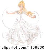 Fairy Tale Princess Bride Twirling In Her Dress