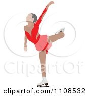 Clipart Female Figure Skater 1 Royalty Free Vector Illustration by leonid