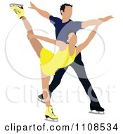 Clipart Couple Figure Skating 1 Royalty Free Vector Illustration by leonid