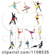 Clipart Figure Skaters Royalty Free Vector Illustration by leonid