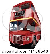Clipart London Double Decker Bus Royalty Free Vector Illustration by leonid