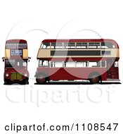 Clipart London Double Decker Buses Royalty Free Vector Illustration by leonid