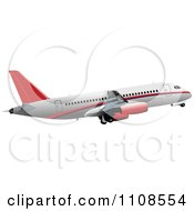 Clipart Commercial Airliner Air Bus Plane 2 Royalty Free Vector Illustration