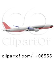Clipart Commercial Airliner Air Bus Plane 8 Royalty Free Vector Illustration