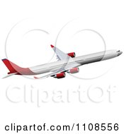 Clipart Commercial Airliner Air Bus Plane 9 Royalty Free Vector Illustration