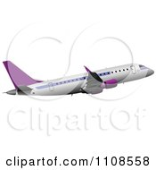Clipart Commercial Airliner Air Bus Plane 3 Royalty Free Vector Illustration