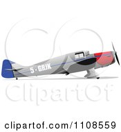 Clipart Military Plane Royalty Free Vector Illustration