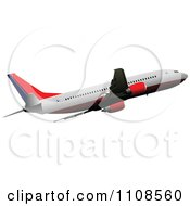 Clipart Commercial Airliner Air Bus Plane 5 Royalty Free Vector Illustration