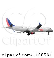 Clipart Commercial Airliner Air Bus Plane 6 Royalty Free Vector Illustration