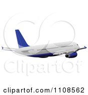 Clipart Commercial Airliner Air Bus Plane 7 Royalty Free Vector Illustration