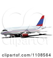 Clipart Commercial Airliner Air Bus Plane 1 Royalty Free Vector Illustration