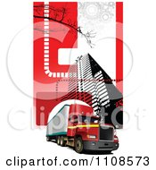 Clipart Big Rig In The City 1 Royalty Free Vector Illustration