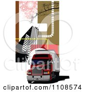 Clipart Big Rig In The City 2 Royalty Free Vector Illustration