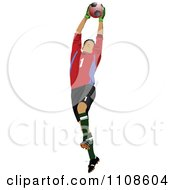 Clipart Male Soccer Athlete Goal Keeper Royalty Free Vector Illustration