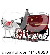 Clipart London Horse Drawn Carriage Cab Royalty Free Vector Illustration by leonid
