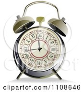 Clipart Vintage Alarm Clock With Roman Numerals Royalty Free Vector Illustration by leonid