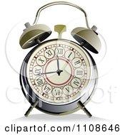 Vintage Alarm Clock With Roman Numerals