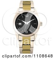 Clipart Wrist Watch Royalty Free Vector Illustration