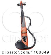 Clipart Electric Violin Royalty Free Vector Illustration