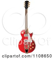 Clipart Red Electric Guitar Royalty Free Vector Illustration