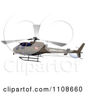 Clipart Flying Ambulance Helicopter Royalty Free Vector Illustration