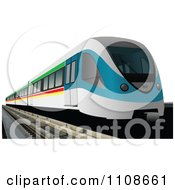 Clipart Metro Train Royalty Free Vector Illustration by leonid