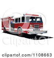 Clipart Fire Engine Royalty Free Vector Illustration by leonid