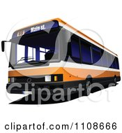 Clipart Orange City Bus Royalty Free Vector Illustration by leonid