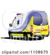 Clipart Blue Yellow And White First Aid Paramedic Ambulace Royalty Free Vector Illustration