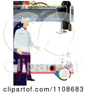 Clipart Chef On A Menu Template 2 Royalty Free Vector Illustration