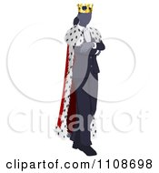 Clipart Businesswoman Queen With Folded Arms Royalty Free Vector Illustration