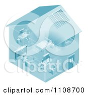 Clipart Home Set Up With A Local Area Network For Devices Royalty Free Vector Illustration