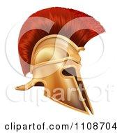 Clipart Ancient Bronze Corinthian Spartan Helmet Royalty Free Vector Illustration