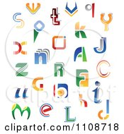 Clipart Abstract Colorful Letters A Through Z 5 Royalty Free Vector Illustration