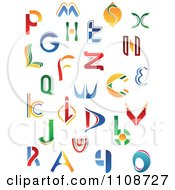 Clipart Abstract Colorful Letters A Through Z 4 Royalty Free Vector Illustration