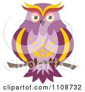 Clipart Perched Owl 4 Royalty Free Vector Illustration by Seamartini Graphics