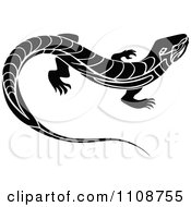 Black And White Tribal Lizard 2