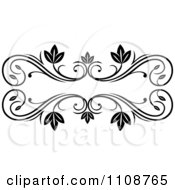 Black And White Leafy Floral Frame