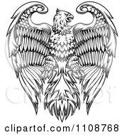 Black And White Heraldic Eagle Crest