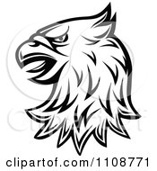 Clipart Black And White Heraldic Eagle Head 1 Royalty Free Vector Illustration