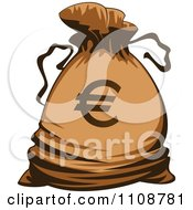 Clipart Bank Money Bag With A Euro Symbol Royalty Free Vector Illustration by Vector Tradition SM