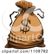 Clipart Bank Money Bag With A Dollar Symbol Royalty Free Vector Illustration by Vector Tradition SM