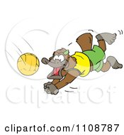Clipart Platypus Diving For A Volleyball Royalty Free Vector Illustration by Dennis Holmes Designs