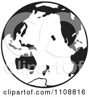 Clipart Black And White Globe Royalty Free Vector Illustration