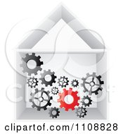 Clipart Factory Gears Working In A Building Royalty Free Vector Illustration by Andrei Marincas