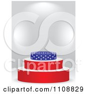 Clipart Patriotic American Flag Podium With Copyspace On Gray Royalty Free Vector Illustration by Andrei Marincas