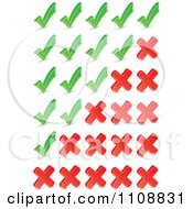 Clipart Check Mark And X Ratings Royalty Free Vector Illustration