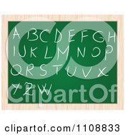 Clipart Capital Letters Writen On A Chalk Board Royalty Free Vector Illustration